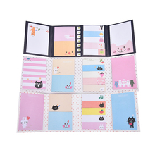 Korean Stationery Cute Cartoon Animal Cat Bear Memo Pad Sticky Note Kawaii Paper Sticker for kids