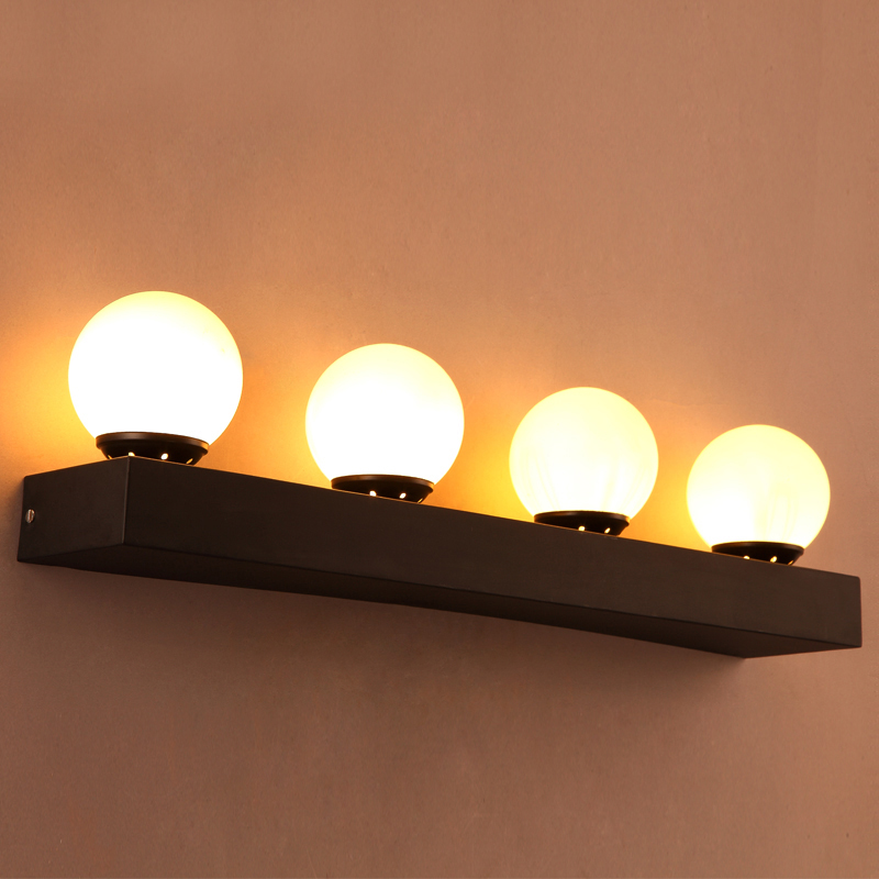 Loft wall creative Restaurant Bar Cafe bedroom bedside lamp ball aisle retro iron wall lamp Free shipping<br>