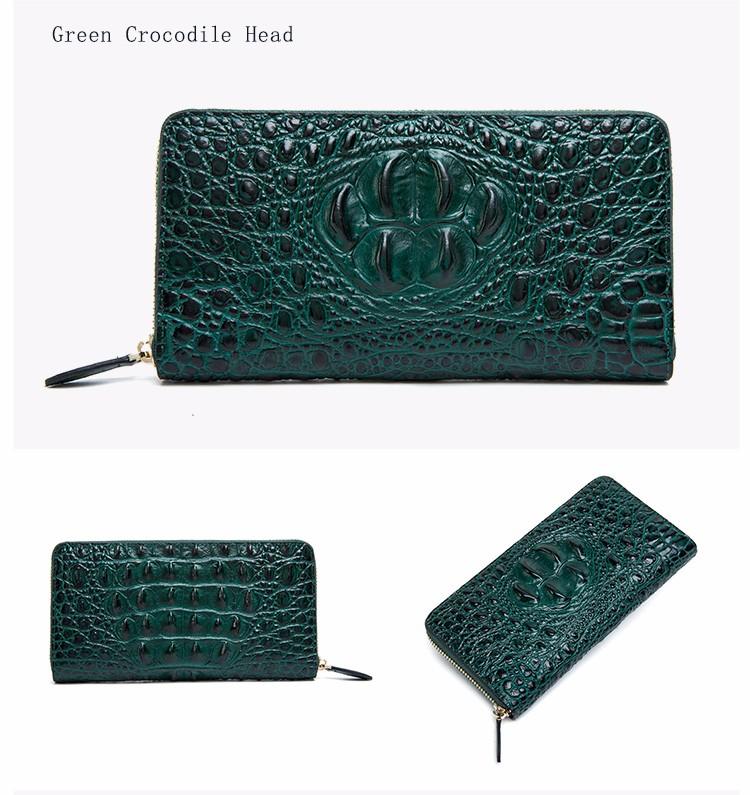 HTB1XN5aOFXXXXcFXpXXq6xXFXXXs - QIWANG SEXY Women Wallets Crocodile Head and Tail Wallet Purse for Women Split Leather Alligator Pattern Long Wallet Women