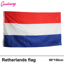 3'x5' Large Netherlands Flag Polyester Dutch National Banner Indoor Outdoor Activity/parade/Festival/Home Decoration New fashion(China)