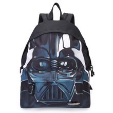 "Star Wars Black Knight Cool Blue Backpack Student Teenage School Backpack Casual Backpack Girl 7-11 ""IPAD Bag w Quality Print"