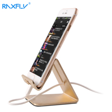 RAXFLY Universal Aluminum Metal Phone Stand Holder For iPhone 6 6s 7 Tablet Desk Phone Holder Stands For iPad Smartphone Support(China)