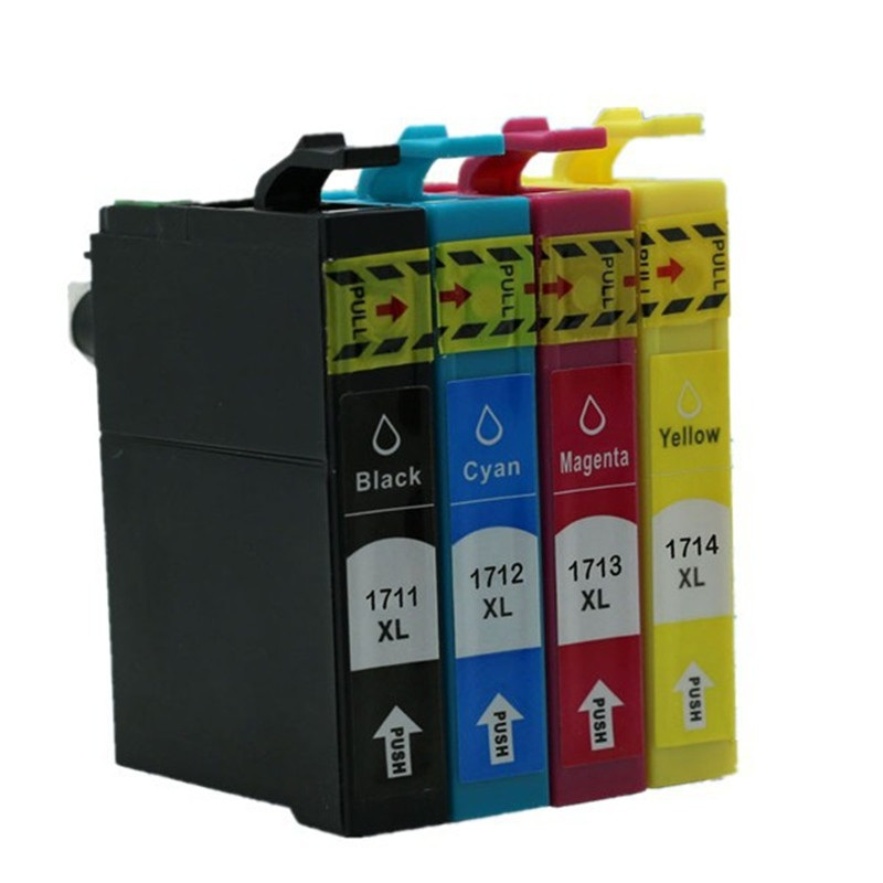 free shipping 4PCS 1 SET T1711 T1712  T1713 T1714 with chip compatible inkjet Ink cartridges for epson XP-33/103/203/207 printer<br><br>Aliexpress