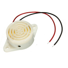 95DB Alarm High-decibel DC 3-24V 12V 20mA Electronic Buzzer Intermittent Beep Mounting Hole White High Quality(China)