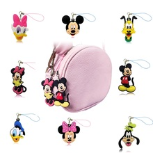 1PCS Cartoon Mickey Minnie PVC Cell Phone Decor Hanging Ornaments Phone Straps Keychains Bag Accessories Gift Fashion Charms(China)
