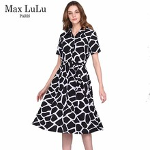 Max LuLu New Designer Fashion Brand Clothing 3d Plaid Women's Long Dresses Woman Dashiki Ladies Plus Size Dress Summer style 4XL(China)