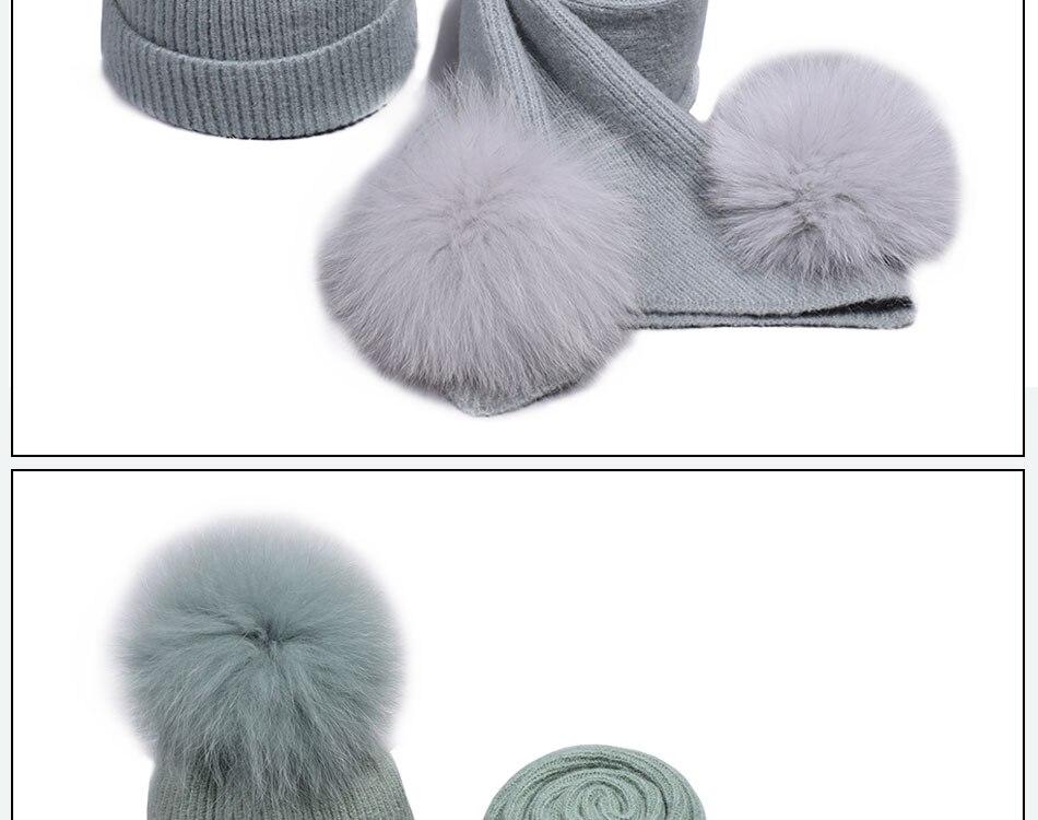 قبعة ووشاح للفتيات 19
