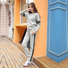 QMGOOD Clearance Spring Autumn Women Tracksuits Set Tops + Pants Two Pieces Set Track Suit Women Suit Casual Sportswear Feminine