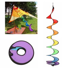 1PC Rainbow Spiral Windmill Tent Colorful Wind Spinner Garden Home Decorations New -Y102(China)