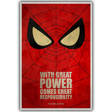 Spider Man DC Comics Superhero Poster Image For Home Decoration Silk Canvas Fabric Print Poster Wallpape DY1013