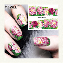 YZWLE 1 Sheet DIY Decals Nails Art Water Transfer Printing Stickers Accessories For Manicure Salon  YZW-8156
