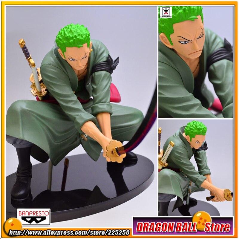 Japan Anime  One Piece Original BANPRESTO SCultures BIG Zoukeiou 4 PVC Figure Vol.3 - Roronoa Zoro<br>
