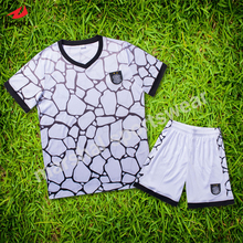 Latest design soccer jersey for kids OEM soccer uniforms customized for children football wear DIY supplier(China)