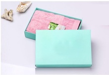 Qi Size:18*13*4cm Large Pink Paper Gift Box Big Gift Kraft Cardboard Boxes Blue Large Size Blank Paper Box for T shirt/Scarf(China)
