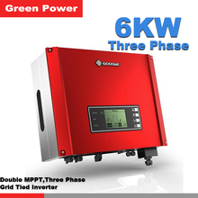 GW6000-DT Goodwe Solar Inverter,6kw 400v solar power inverter double MPPT connect 12V/24V 250W solar panel for PV power system