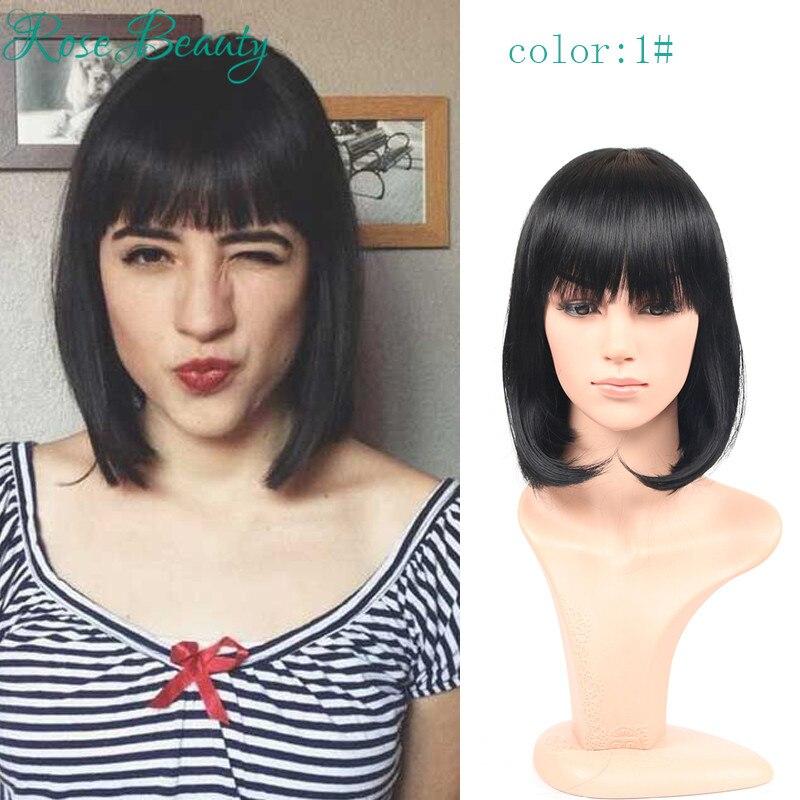 short wig for black women Cosplay Wigs pelucas pelo natural Bob wig synthetic perruque cosplay short cut wigs pelucas sinteticas<br><br>Aliexpress