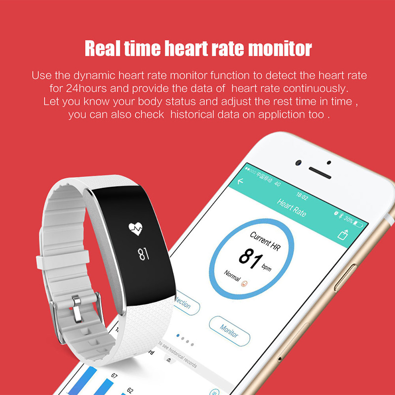 A86 Smartband Heart Rate Blood Pressure Watches Pulse Monitor Smart Band Fitness Bracelet Activity Tracker Wristband Pedometer 11