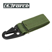 CS Force Outdoor Military Molle Strap Belt Buckle Hook Keychain Portable for Vest Pouch Bag Camping Hunting