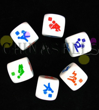 200pcs KTV bar game fun sexy couple dice toys adult game sexy erotic lovers dice creative gift party dice