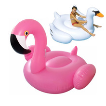 60inch 1.5M Inflatable Flamingo Pool Float Giant Swan Inflatable Swimming Pool Ring Toys for Adult flotadores para piscina(China)