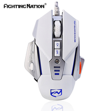 Mechanical Design Gaming Illuminated Macro Mouse USB Wired 3200 DPI 8 Buttons Backlight Backlit LED Computer Mice for Pro Gamer(China)