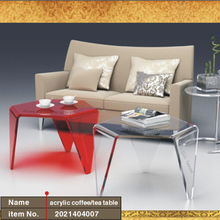Three Legged Waterfall Acrylic coffee Tea Table,Colored Lucite End Sofa Ocassional Magazine Tables ONE LUX