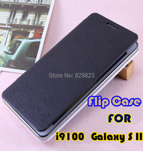 For Samsung Galaxy S2 SII i9100 9100 back cover flip leather cases battery housing case free shipping