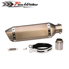 Universal 51mm ALUMINUM Motorcycle Exhaust pipe GY6 Modified Scooter Exhaust Muffler for HONDA R6 R1 FZ6 Z1000 GSXR(China)