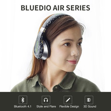 2017 Rushed Earphones Original Bluedio A(Air) New Model Bluetooth Headphone&wireless Headset Fashionable Headphones for Mp3(China)