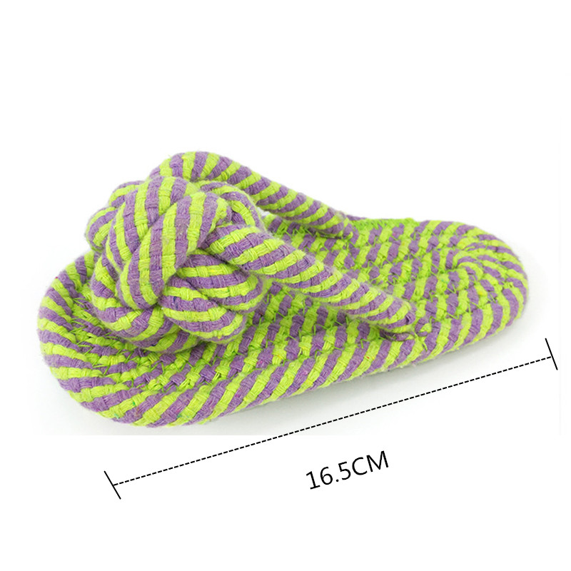 Pet Dog Chew Toy Plush Slipper Cotton Rope Dog Teeth Training Toy Puppy Interactive Funny Play Games Pet Supplies (6)