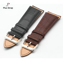 Big size genuine leather watchband watch belt waterproof watch strap wristband for men women 23 26 28 30 mm