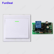 Wireless Remote Control Switch AC 110V 220V Receiver 86 Wall Panel Remote Transmitter Hall Bedroom Ceiling Lights Wall Lamps TX