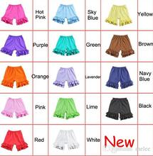 Fedex UPS Free Ship 100% cotton Baby Girls Ruffled shorts summer Kids shorts girl shorts short pants for baby girls 1-8T