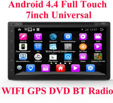Universal double 2 din 7 INCH Android Car dvd player car PC radio Glonass+GPS,audio stereo video,WIFI bluetooth IN-DASH(China)