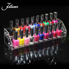 New Detachable 2 Tiers Acrylic Nail Polish Rack Makeup Cosmetic Display Shelf Organizer Lipstick Jewelry Displays Stand Holde