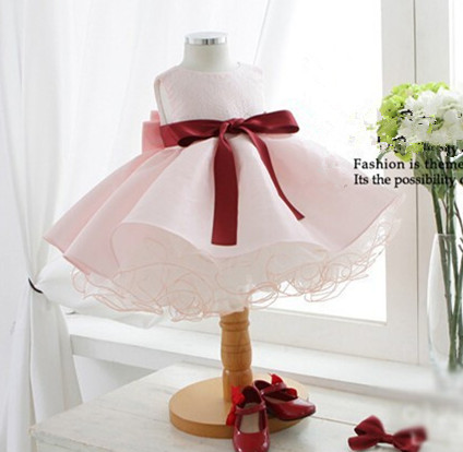 Summer Baby Girl wear Pink Princess Dress Kids Wedding Dress ball gown Girls Dresses For Children vestido de festa<br><br>Aliexpress
