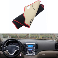 For HYUNDAI i30 2009-2016 Car Dashboard Avoid Light Pad Instrument Platform Desk Cover Mat Silicone Non-skid Back Surface