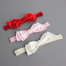 #6106 3pcs/lot Girls Hair Bows Elastic Band Pink Red Bow Hairband Diademas Bebes Ninas Turban Headband Hair Band Accessories