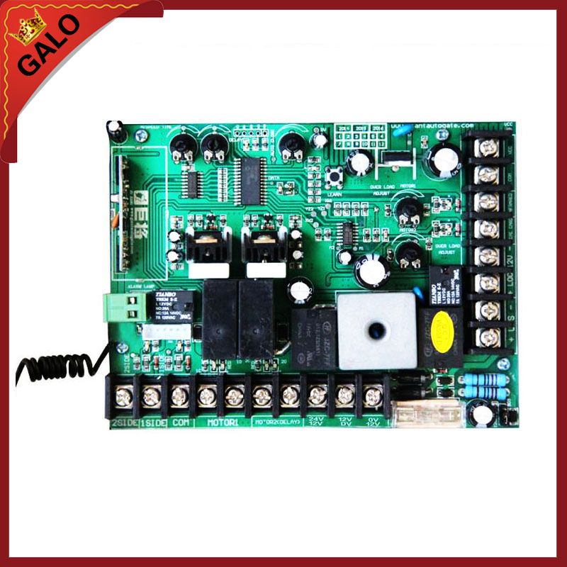 galo DC12V Swing Gate Control Board connect back up battery or solar system with metal cover remote<br>