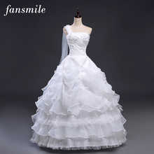 Fansmile 2017 Cheap Vintage Lace Up Ball Wedding Dresses Bridal Dress Plus Size Robe de Mariee Gowns Wedding Under $50