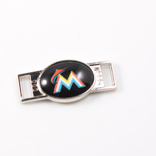 Miami Marlins MLB Baseball Team Logo Oval Shoelace Charms For Sport Shoes And Paracord Bracelets Jewelry Decoration 6pcs
