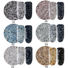 MIOBLET New 2g/Box Chameleon Marble Powder Nail Flakes Shining Nails Glitter Manicure DIY Nail Sequins Dust Nails Art Decoration