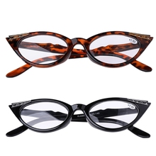 Women Cat Eye Reading Glasses Presbyopic Eyeglass Spectacles Resin Len +1.0~+3.5(China)