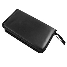 CES-80 Portable CD VCD DVD Faux Leather Case Storage Holder Organizer Black