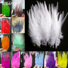 "17 colors! High quality white and stained 20 pc rooster feathers, 4-6 ""/ 10-15cmDIY Clothing, handicrafts, jewelry and other acc(China)"