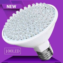 Plastic Low Heat Ultra Bright 6W E27 UV Ultraviolet Color Purple Light 100 LED Lamp 110V / 220V For Indoor More Energy(China)