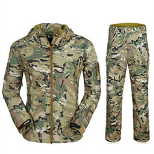TAD us army military uniform for men male shark skin soft shell jacket suit genuine wind jacket and pants army uniform
