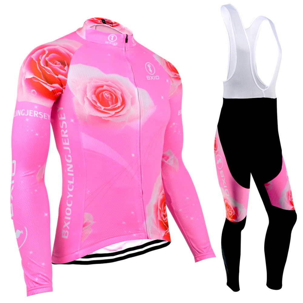 BXIO Women Winter Thermal Fleece Cycling Jerseys Fluorescence Pink Warm Long Sleeve 5D Gel Pad Bike Clothes Maillot Ciclismo 121<br><br>Aliexpress