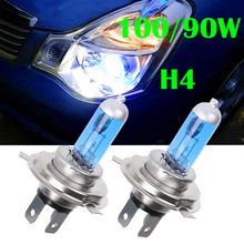 2pcs H4 100W/90W 12V HOD Xenon White 6000k Halogen Car Head Light Globes Bulbs Lamp H4 HOD Xenon Light