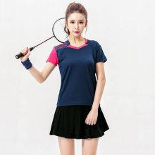 Free Print Badminton wear sets Women's Jerseys , Female Tennis sets ,Table Tennis sets , Tennis shirt + skirt black set 5062B(China)